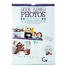 Buy Family Photos A3 Family Wall Calendar Online at johnlewis.com
