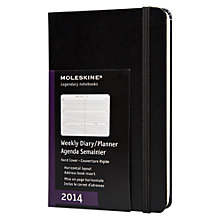 Buy Moleskine A6 Weekly Hardback Diary 2014 and Address Book, Black Online at johnlewis.com