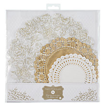 Buy Talking Tables Party Porcelain Paper Doilies, Pack of 20, Gold Online at johnlewis.com