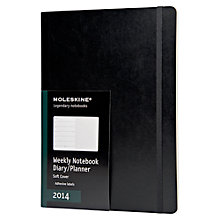 Buy Moleskine Softback Weekly 2014 Diary, Black Online at johnlewis.com