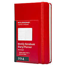 Buy Moleskine Hardback A6 2014 Diary and Notebook, Red Online at johnlewis.com