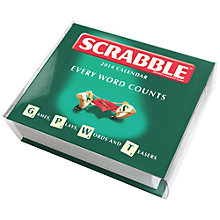 Buy Scrabble Boxed 2014 Desk Calendar Online at johnlewis.com