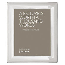Buy John Lewis Aldburgh Silver Plated Photo Frame, 8 x 10 (20 x 25cm) Online at johnlewis.com