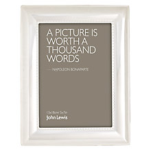 Buy John Lewis Aldburgh Silver Plated Photo Frame, 5 x 7 (13 x 18cm) Online at johnlewis.com