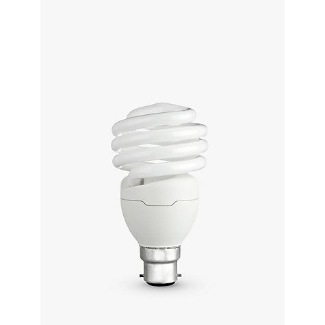 Buy Philips 23W BC Energy Saving CFL Spiral Bulb Online at johnlewis.com