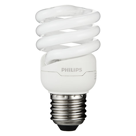 Buy Philips 12W ES Energy Saving CFL Spiral Daylight Bulb Online at johnlewis.com