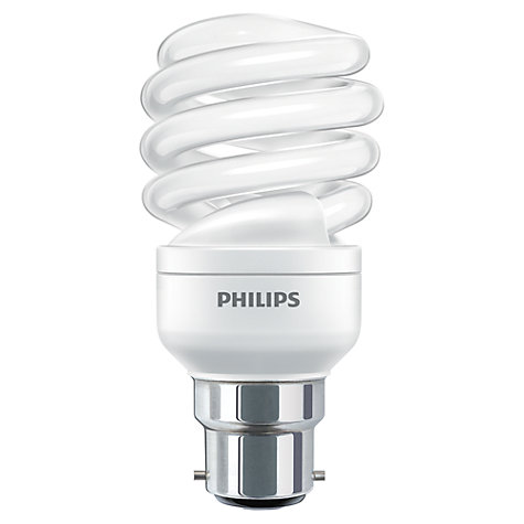 Buy Philips 23w Bc Cfl Spiral Daylight Bulb John Lewis