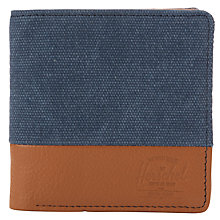Buy Herschel Kenny Canvas and Leather Wallet, Navy/Tan Online at johnlewis.com