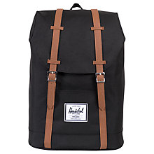 Buy Herschel Supply Co. Retreat Backpack, Black Online at johnlewis.com