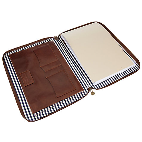 Buy John Lewis Made In Italy Leather Stationery Holder, Brown Online at johnlewis.com