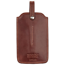 Buy John Lewis Made In Italy Leather Cover for iPhone 4, 4S & 5, Brown Online at johnlewis.com