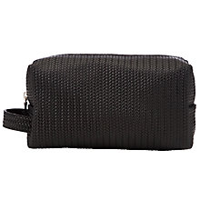 Buy John Lewis Made in Italy Weave Wash Bag, Black Online at johnlewis.com