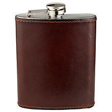 Buy John Lewis Made In Italy Hip Flask, Brown Online at johnlewis.com