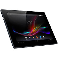 "Buy Sony Xperia Tablet Z, Snapdragon S4 Pro, Android, 10.1"", NFC, Wi-Fi, 32GB, Black Online at johnlewis.com"