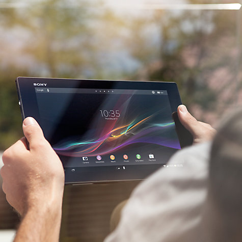 "Buy Sony Xperia Tablet Z, Snapdragon S4 Pro, Android, 10.1"", NFC, Wi-Fi, 16GB, Black Online at johnlewis.com"
