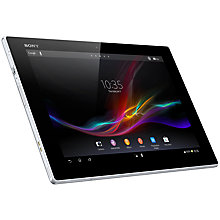 "Buy Sony Xperia Tablet Z, Android, 10.1"", Wi-Fi, 32GB, White (with FREE Micro SD Card) Online at johnlewis.com"