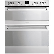 Buy Smeg DUSC36X Double Built-Under Electric Oven, Stainless Steel Online at johnlewis.com