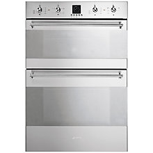 Buy Smeg DOSC36X Double Electric Oven, Stainless Steel Online at johnlewis.com