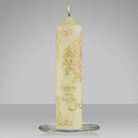 Buy John Lewis Advent Column Candle, Gold Online at johnlewis.com