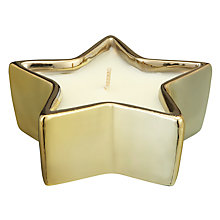 Buy John Lewis Winter Spice Scented Star Candle, Gold Online at johnlewis.com