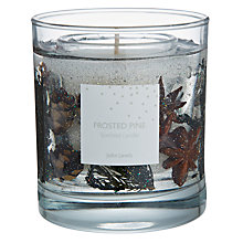 Buy John Lewis Frosted Pine Gel Candle, Medium Online at johnlewis.com