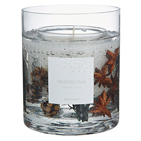 John Lewis Frosted Pine Gel Candle, Large