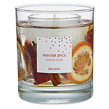 Buy John Lewis Winter Spice Gel Candle, Medium Online at johnlewis.com
