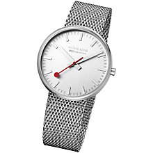 Buy Mondaine A660.30328.16SBM Unisex Giant Elegance Watch, Silver Online at johnlewis.com