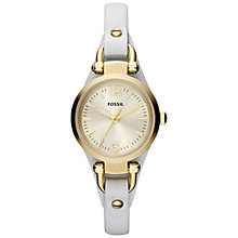 Buy Fossil Women's Georgia Mini Leather Strap Watch Online at johnlewis.com