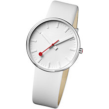Buy Mondaine A660.30328.16SBN Unisex Giant Elegance Watch, White Online at johnlewis.com