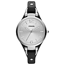 Buy Fossil ES3199 Georgia Women's Leather Strap Watch, Black Online at johnlewis.com