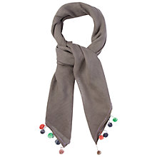 Buy White Stuff Pom Pom Tassel Scarf, Grey Online at johnlewis.com