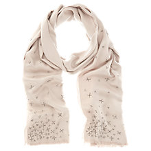 Buy Mint Velvet Embellished Wrap Scarf, Stone Online at johnlewis.com