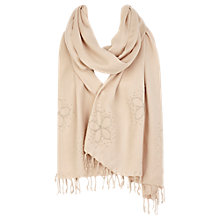 Buy Coast Eunice Embellished Wrap, Neutral Online at johnlewis.com