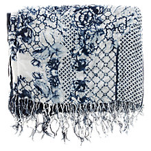 Buy Warehouse Pattern Porcelain Scarf, Purple Pattern Online at johnlewis.com