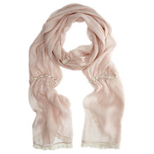 Buy Mint Velvet Lace Trim Scarf, Nude Online at johnlewis.com