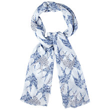 Buy White Stuff Birds of a Feather Scarf, Navy Online at johnlewis.com