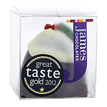 Buy James Chocolates Christmas Pudding Dark Chocolate Truffle, 45g Online at johnlewis.com