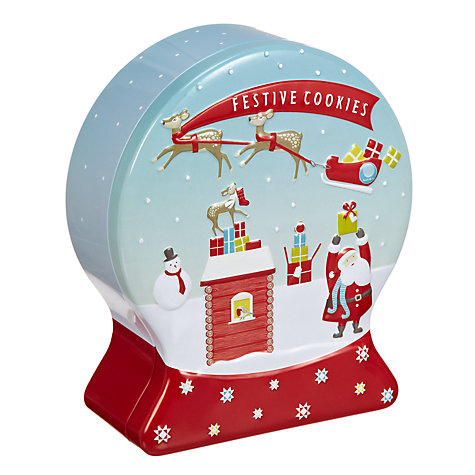 Buy Festive Cookies in Snow Globe Tin, 204g Online at johnlewis.com