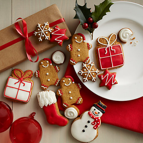 Buy Image on Food Christmas Gingerbread Biscuit Gift Tin, 150g Online at johnlewis.com