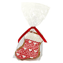 Buy Image on Food Heart Trim Stocking Gingerbread Biscuit, 60g Online at johnlewis.com