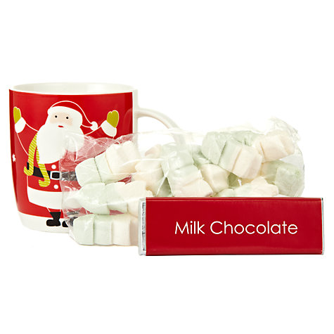 Buy Santa Hot Chocolate Mug Set Online at johnlewis.com