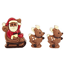 Buy Milk Chocolate Santa and Reindeer Chocolate Set, 166g Online at johnlewis.com
