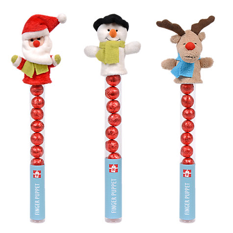 Buy Snowman / Santa / Reindeer Finger Puppet with Milk Chocolate Balls Online at johnlewis.com