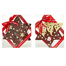 Buy Cocoa Bean Company Christmas Star Chocolate Slab, 200g Online at johnlewis.com