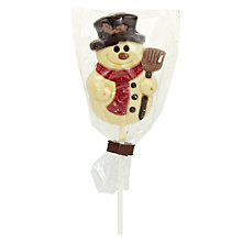 Buy Natalie Chocolates White Chocolate Snowman Lolly, 35g Online at johnlewis.com