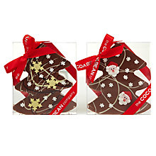 Buy Cocoa Bean Company Christmas Tree Chocolate Slab, 200g Online at johnlewis.com