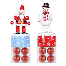 Buy Festive Push Up Toy with Milk Chocolate Balls, Assorted Online at johnlewis.com