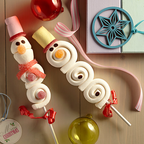 Buy Gourmet Candy Assorted Snowman Marshmallow Lolly, 75g Online at johnlewis.com