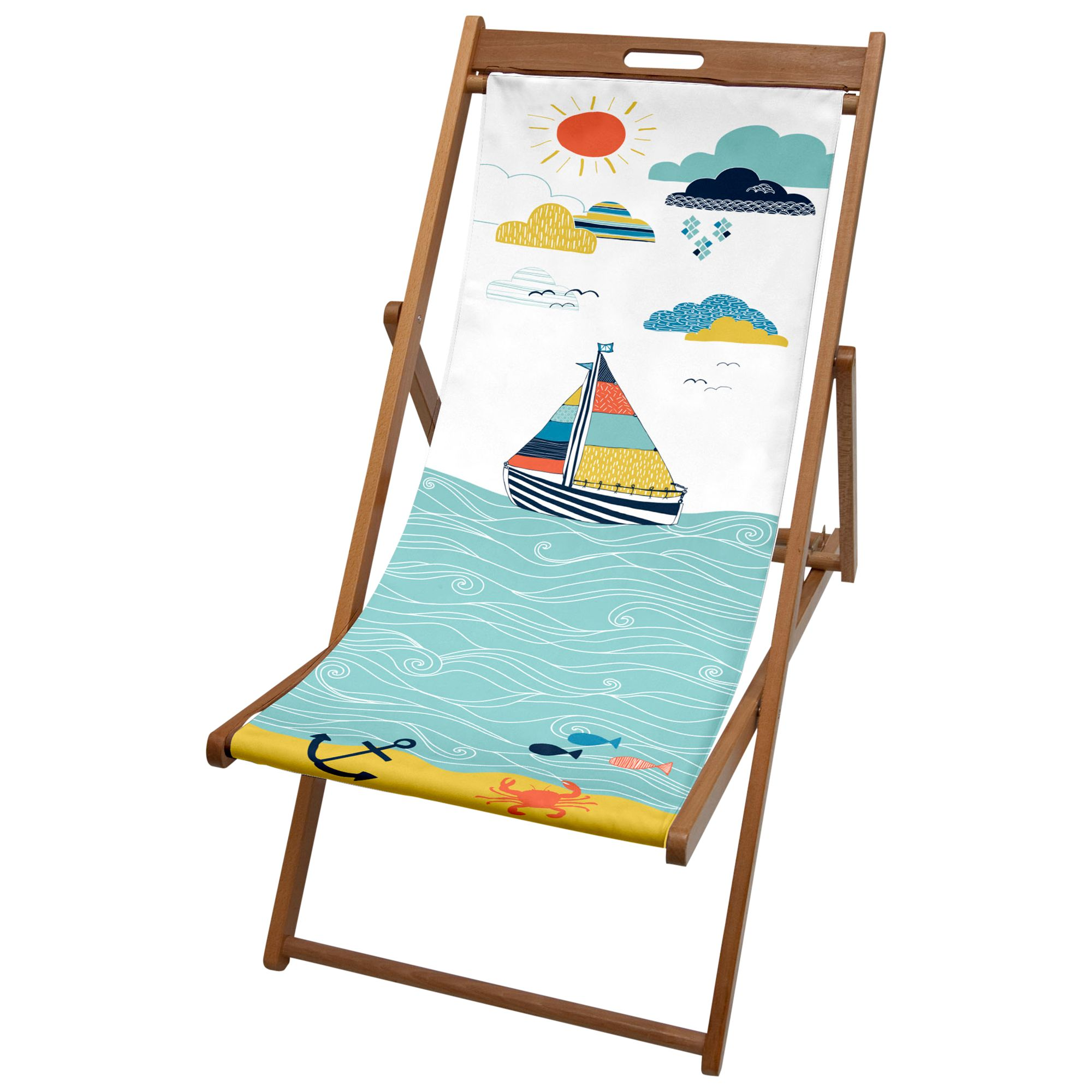 John Lewis Boats and Clouds Deck Chair
